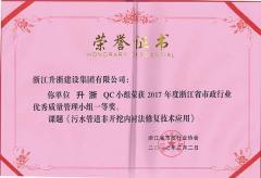 亿总裁QC小组荣获2017年度浙
